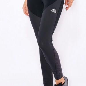ADIDAS Techfit Climachill Black and Grey Leggings